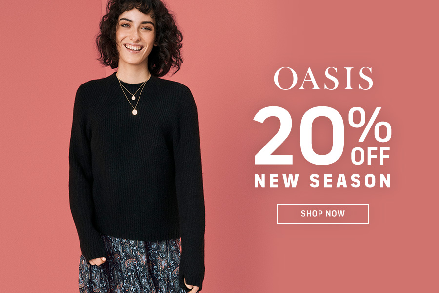 Oasis | 英国女装品牌双11新款8折,日常款+派对款一站购齐