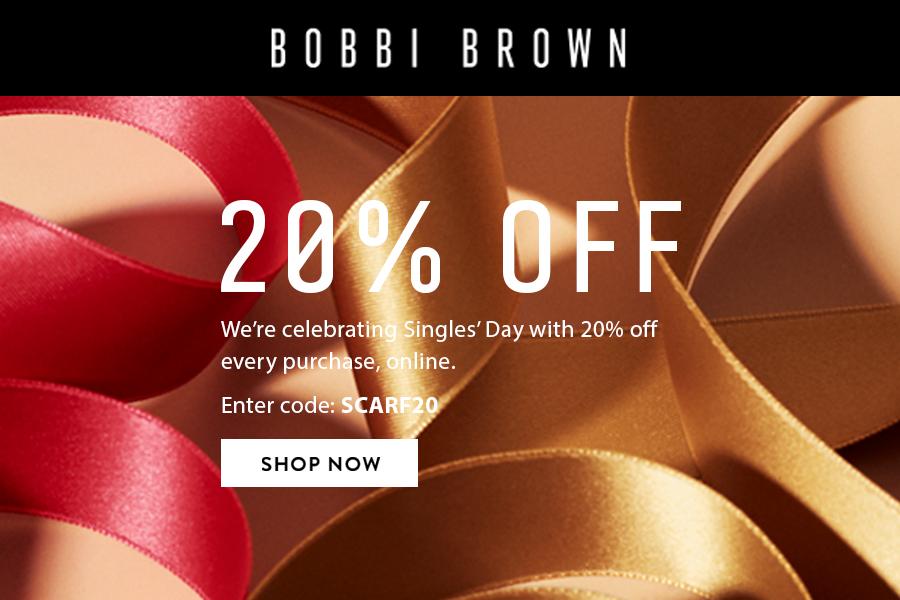 Bobbi Brown | 红领巾双11独家正价商品8折,全新眼影盘+经典产品都在!