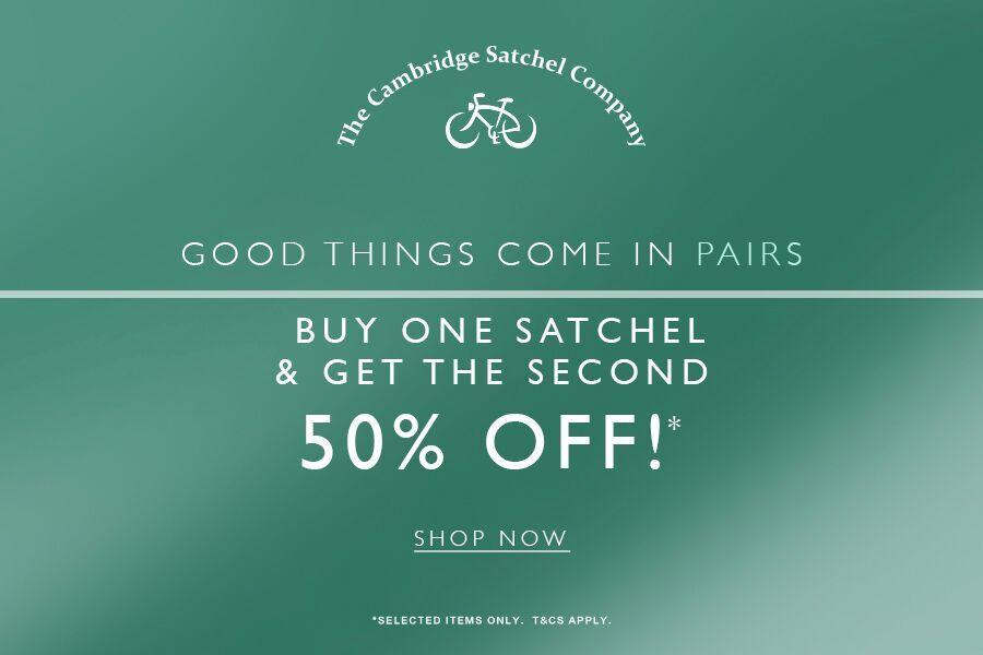 The Cambridge Satchel Company | 剑桥包双十一特惠第二件半价!
