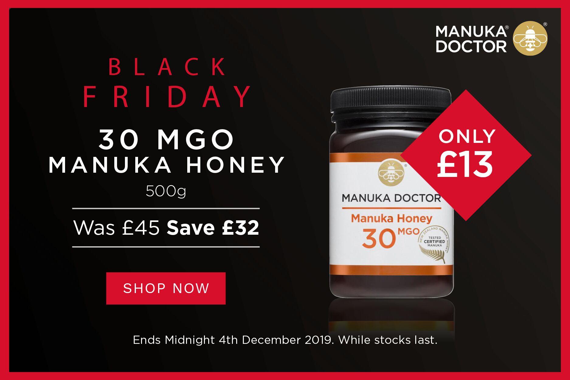 Manuka Doctor麦卢卡 | 养胃蜂蜜500g大罐装闪销28折,只要13镑