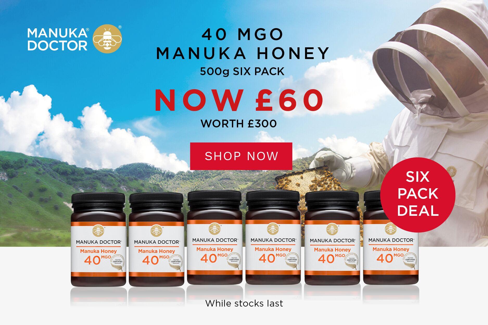 Manuka Doctor 麦卢卡蜂蜜 | 超棒2折, 10镑带走40 MGO养胃蜂蜜!