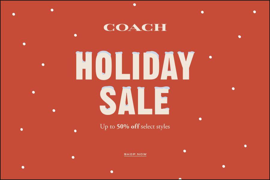 Coach | Holiday SALE開始啦,男女包包50%OFF折扣入手!